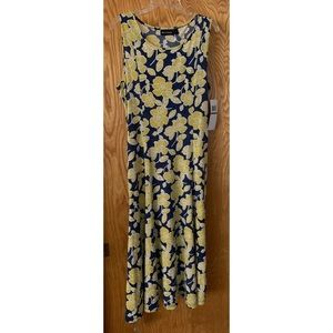 Nina Leonard Sleeveless Flower Dress